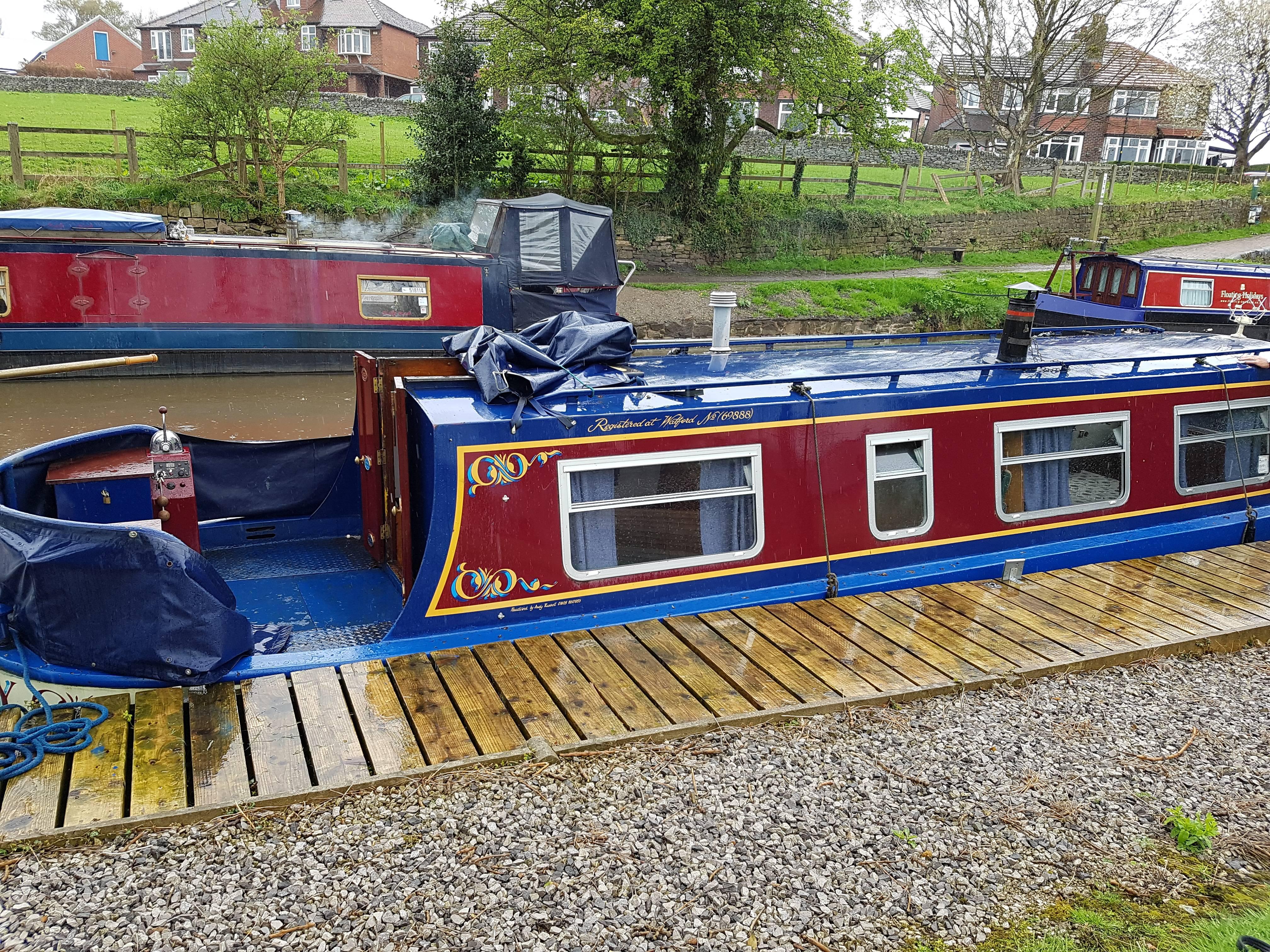 castaway moored up