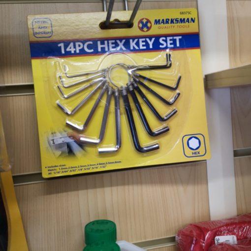 Hex Key / Alan Key Set, 14pcs 1