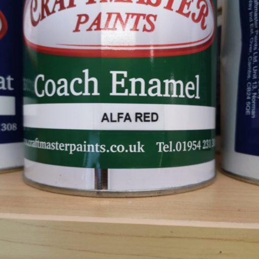 Craftmaster Coach Enamel - Alfa Red 1